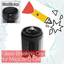 Stealthy Glass Breaking End/Tail Cap for MagLite C Cell Torch/Flashlight
