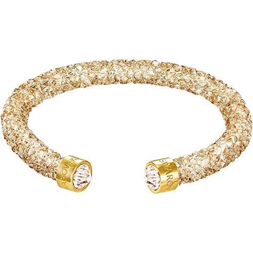 Swarovski Damen-Armreif Crystaldust Bracelet Edelstahl Kristall gold Rundschliff - 5250067