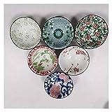 MissLi 6 Unids/Set Clásico Taza De Té De Porcelana Azul Y Blanca Tazas De Café Pintadas A Mano Cono De Cerámica Cuenco De Té Chino Accesorios (Size : 2)