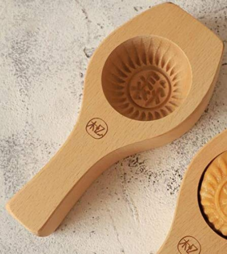 Concave Bodemverdieping 3.5Cm Mooncake Eigeel Knapperig Rond Verdampingsnoedelsbroodje Su-Style Pompoentaart Houten Bakvorm-Lu-Type (Diameter 7 * Diepte 3,5 Cm)