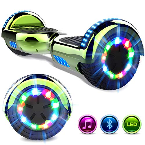 GeekMe Gyropod 6.5 Pulgadas Scooter Eléctrico Board Hover Certificado UL 2272 Certificado Bluetooth Incorporado Lámparas LED Colorido Intermitentes Wheels
