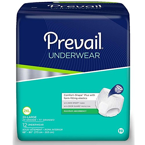 Prevail Maximum Absorbency Underwear, XX-Large, Pack of 12