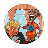 Obama Laughing at Trump Funny President Pinback Button Pin