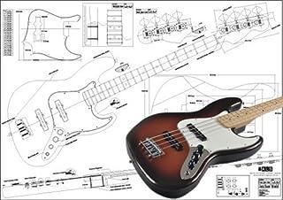 Plan de Fender Jazz Bass 4cuerdas–Escala completa impresión