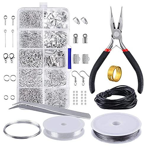 YLWL DIY Materiales de joyería Hechos a Mano Juguete Creativo Espaciador Suelto Manualidades Hacer Pulsera Collar Kit de joyería Juguete para niña Regalo