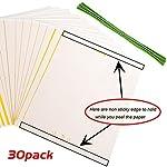 Huvai Lot de 30 pièges autocollantsdouble-face jaunes pour insectes volants - 15,2x 20,3cm - attaches élastiques fournies #1