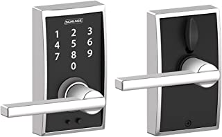 Schlage Touch Century Lock with Latitude Lever (Bright Chrome) FE695 CEN 625 LAT