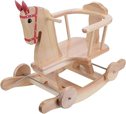 ventas en linea HUYP Fashion Fashion Fashion Gift Wagon Cunas Mecedoras Rocking Horse Juguetes para Niños Silla Mecedora para Bebés Madera Maciza  edición limitada