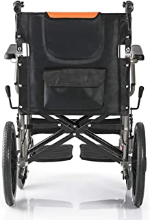 Wheelchair, Transport Manual Folding with Footrest Handbrakes, Adjustable Brake Tightness Speed ,14 inch Large Rubber Whee...