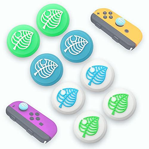 MatoSan 8 Blätter Joystick Kappen für Nintendo Switch & Lite | Thumb Grip Ersatz Silikon Analog Stick Schutzkappen Grips Caps Joy-Con Ersatz-Zubehör