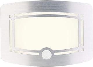 Lunartec Lámparas de Pared con batería: Aplique LED de batería de 2 etapas, Sensor de Movimiento y luz, 40 LM (Detector de Movimiento con Ligero)