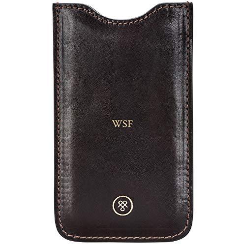 Maxwell Scott® Personalizada Funda de Piel iPhone 6Funda (la Gruppo), marrón (Marrón) - gruppo_919_4