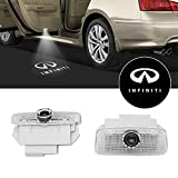 Led Car Door Lights Logo Compatible with Infiniti, Welcome Ghost Shadow Laser Courtesy Step Light for Infinity FX G M EX Q50 Q60 Q70 QX50 QX56 QX80 Series, Easy to Install Plug and Play