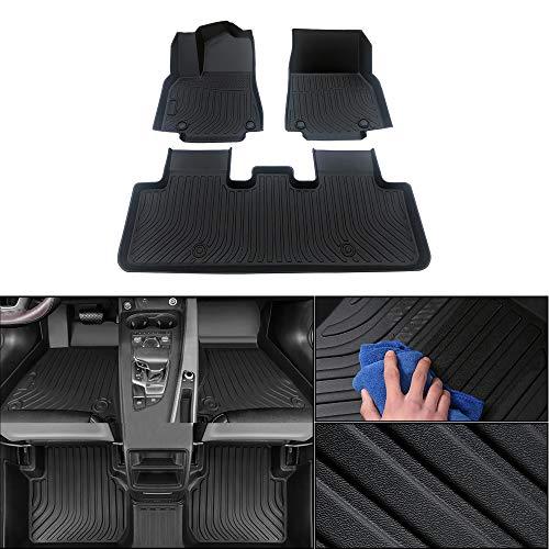 jialaiwo Auto Fußmatten Gummi für Subaru Outback 2015-2019 5 sitze Fussmatten Allwetter Schutz Wasserdicht rutschfest Gummimatten Innere Zubehör Vollständiger Satz Schwarz