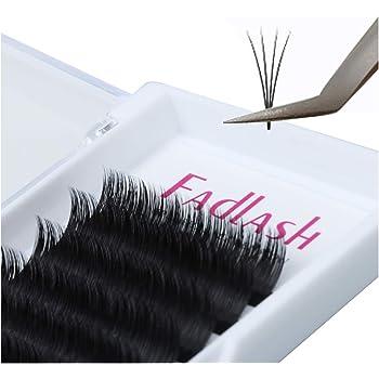 Volume Lash Extensions 0.05 0.07mm Easy Fan Lashes 8~20mm Length FADLASH Eyelash Extensions C/D/DD Curl 2D-10D Easy Fanning Volume Lashes Self Fanning Eyelash Extensions (0.07-D curl, 8~14mm Mix)
