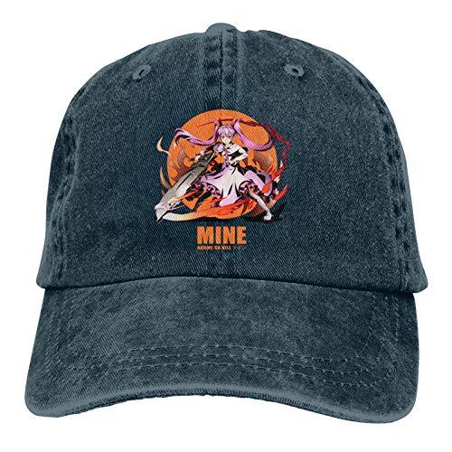 KJAHS Gorras de béisbol unisex Mine Akame ga Kill Vintage Algodón lavado desgastado Sombreros