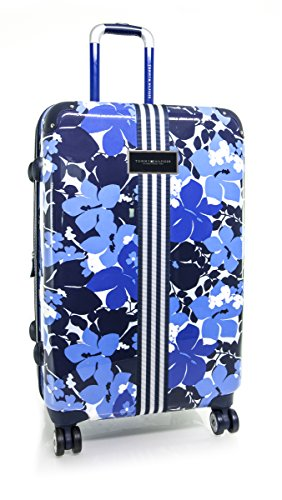 Tommy Hilfiger Hardside Spinner Luggage, Blue Floral