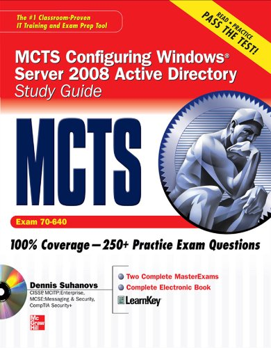 MCTS Windows Server 2008 Active Directory Services Study Guide (Exam 70-640) (SET) (English Edition)