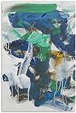 APAZSH Cuadros Decoracion Poster artísticos de Joan Mitchell, Pintura artística para Pared, Lienzo, Impresiones de Regalo, decoración, póster, Obras de Arte 60x90cm x1 Sin Marco