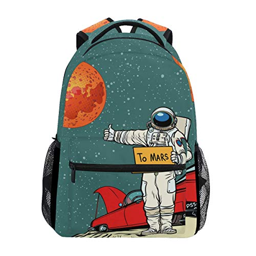 ALAZA Pop Art Retro Astronaut Space Cartoon Large Backpack Personalized Laptop iPad Tablet Travel School Bag with Multiple Pockets for Men Women College