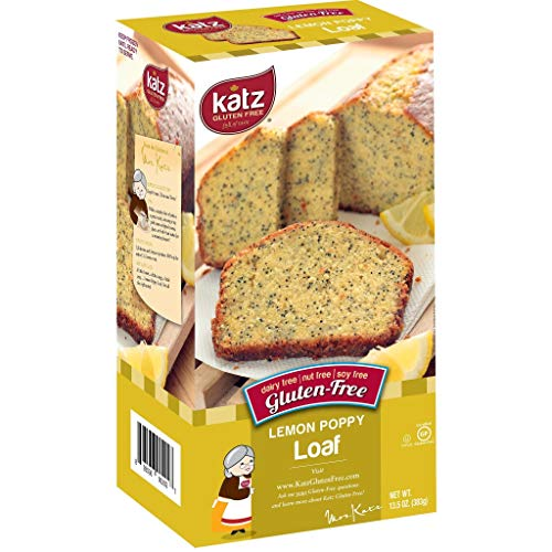Katz Gluten Free Lemon Poppy Loaf | Dairy, Nut, Soy and Gluten Free | Kosher (3 Packs of 1 Loaf, 13.5 Ounce Each)