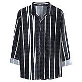 Mens otoño moda suelta casual diario impreso camisa de manga larga blusa superior Casual Moda