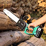 BOORIC 8 Inch Battery Cordless Chainsaw Brushless One-Hand Power Chain Saw 2 Battery and Charger (8 inch)