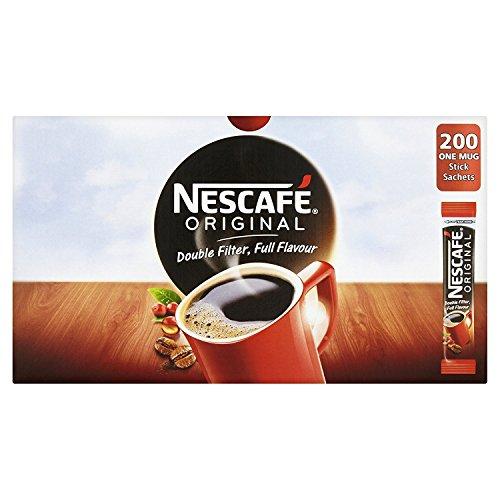 NESCAF? Original Instant Coffee Stick Packs, Box of 200