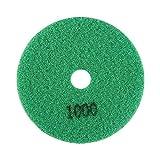WanRomJun 1pc 100mm 4'Almohadilla De Pulido De Disco De Pulido De Diamantes Húmedo para Piedra De Mármol (granularidad 1000) Verde