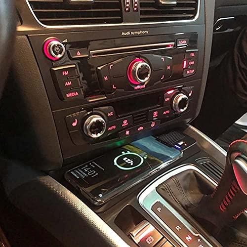 DPG Cargador Inalámbrico Qi para Coche, Accesorio De Cargador Inalámbrico para Audi Q5 2009-2017 2018.10W