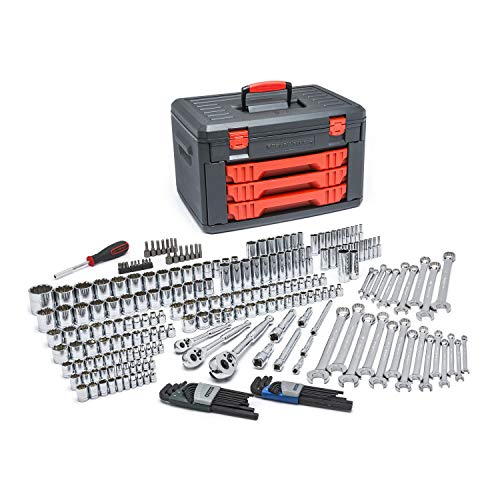 GEARWRENCH 239 Pc. Mechanics Tool Set in 3 Drawer Storage Box - 80942