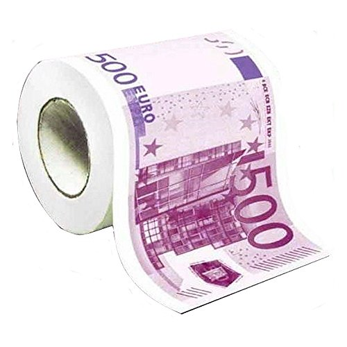 Generique - Papel WC humorístico Billete 500 Euros