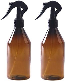 Baalaa 2 stuks 300 ml lege Amber plastic flessen met etiketten - navulbare container voor etherische oliën