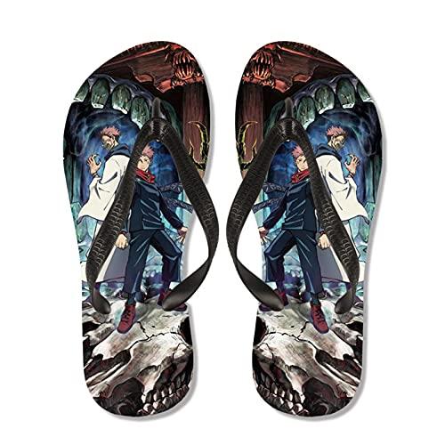 LUKIFU Anime Jujutsu Kaisen Zapatillas Zapatillas De Dibujos Animados Unisex Diapositivas De Cosplay Sandalias De Playa Chanclas Antideslizantes Exteriores-A