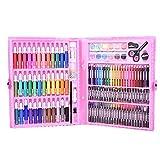Lápices de colores: 150 piezas de acuarela, lápices de colores pastel al óleo, juego de lápices de colores, suministros de pintura artística con caja de regalo(150pc rosa)