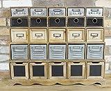 Generic Kommode mit 25 Schubladen, Retro-Stil, Retro-Schrank, Vintage-Kommode mit 25 Schubladen, 25 Schubladen