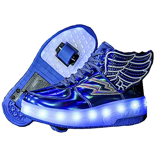 Zapatillas con Ruedas, con USB Carga,Niños Niña...