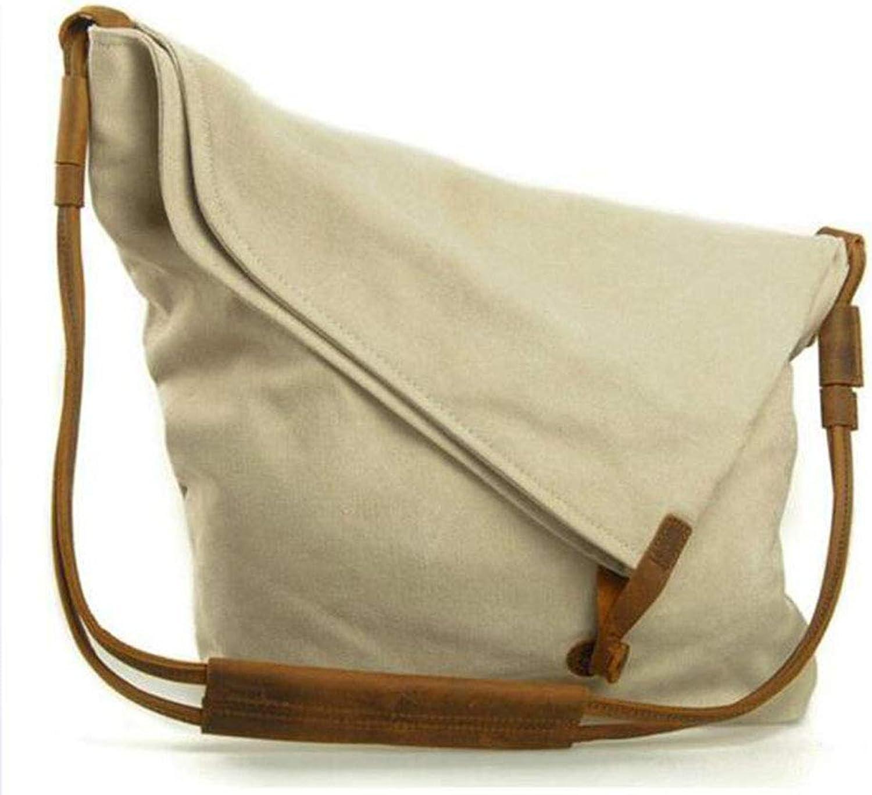 LYJNP1 Umhngetasche Umhngetasche Canvas Handtasche Mnner und Frauen Canvas Tasche,Weiß