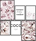 Papierschmiede® Premium Poster Set Coco Flowers | 6 Bilder
