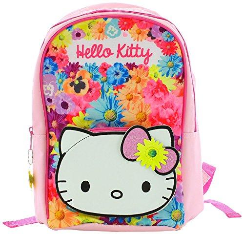 Sanrio Hello Kitty–Gorgeous Pink Folksy Flower Rucksack Schulranzen–Rucksack