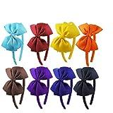 Lurrose 8 Stück Schleife Heabands Tuch niedliche Haarbänder Haarreifen für Frauen Mädchen Party Haarschmuck Zubehör Geschenke