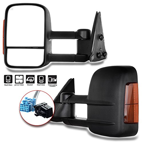 ECCPP Towing Mirrors Pair Set Replacement fit for 2003-06 Chevy Silverado 1500 2500 HD 3500 Suburban...
