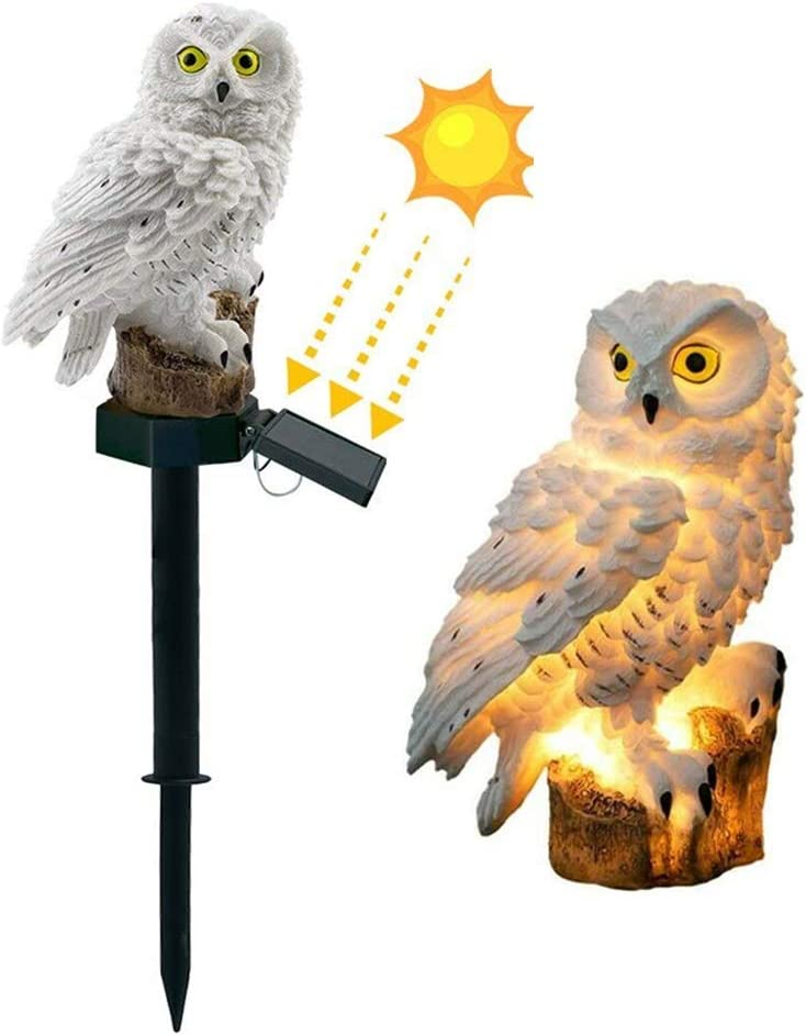 DOUBLE Spring new work one after another 2 C Garden Solar Lights Owl Outdoor Waterp LED Decorative supreme