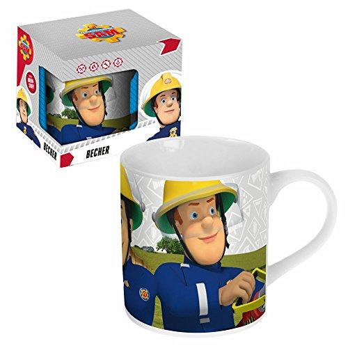 Feuerwehrmann Sam Porzellan Tasse 200 ml | Henkel-Becher in Geschenkbox