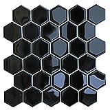HyFanStr Azulejos de pared para Cocina Autoadhesivos, impermeables vinilos cocina azulejos 3D para baño 4 Piezas