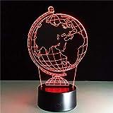 Globo Terráqueo Diy Atmósfera Lámpara Led 3D Ilusión Lámpara De Noche Decorativa Usb Luz De Noche De Vacaciones Con 7 Colores-Con Mando A Distancia