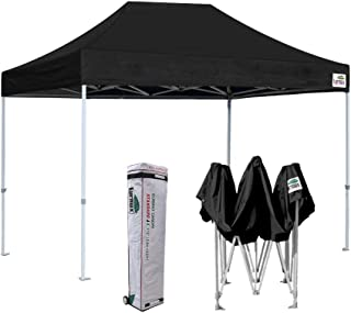 Eurmax 8 x 12 Ez Pop Up Canopy Party Tent Commercial Outdoor Instant Canopies Bonus Deluxe Wheeled Storage Bag (Black)