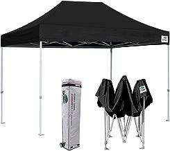 Eurmax 8 x 12 Ez Pop Up Canopy Party Tent Commercial Outdoor Instant Canopies Bonus Deluxe Wheeled Storage Bag (Black)