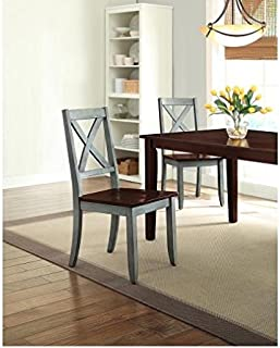 Better Homes and Gardens Maddox Crossing Solid Wood Dining Chair Set of 2 - Blue
