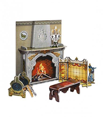 Umbum 260 12 x 4 x 14 cm Clever papieren pop huis en meubelcollectie open haard 3D puzzel